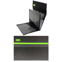 Папка-портфель А4, пластик, цвет черный/зеленый Monochrome 3078918 deVENTE