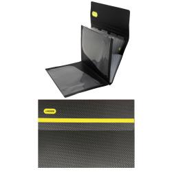Папка-портфель А4, пластик, цвет черный/желтый Monochrome 3078916 deVENTE