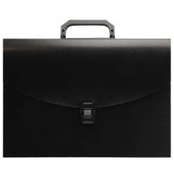 Папка-портфель А4, пластик, цвет черный 213910 KLERK