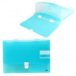 Папка-портфель 7отд 0,6мм 30мм Deli Aurora EB40732 синий