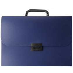 Папка-портфель А4, пластик, цвет синий 200264 KLERK