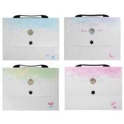 Папка-портфель 12отд 0,7мм 30мм КОКОС BAI LING NIAO Dream 209166 ассорти 4 вида