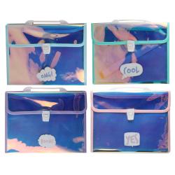 Папка-портфель А4, ПВХ, ассорти 4 вида, цвет рисунок 209814 CHEN YU