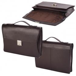 Портфель кожаный 1 отделение 27*38*6 Protege 861031 21-3787 коричневый
