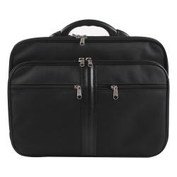 Сумка-портфель тканевая каркасная 2 отделения 31*40*14 Алекс 987 черная