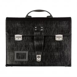 Сумка-портфель искусственная кожа, 320*420*160мм, цвет черный, на замках Секретный портфель Алекс 1031/6