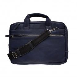 Сумка-портфель искусственная кожа, 280*390*50мм, цвет черный, на молнии Мегаполис Алекс 1115/д