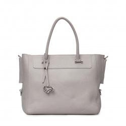Сумка женская сумка, натуральная кожа, 260*350*130мм, 1 отделение, цвет серый, тиснение, на молнии Labbra L-DF52116