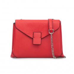 Сумка женская сумка, натуральная кожа, 140*180*60мм, 1 отделение, цвет коралловый, тиснение, на магните Labbra L-N3051