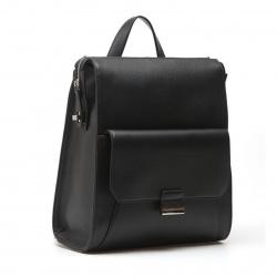 Сумка женская рюкзак, натуральная кожа, 260*300*100мм, 1 отделение, цвет черный, на молнии Palio 14807A-W1