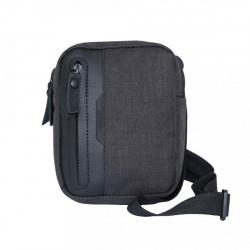 Сумка-планшет мужская полиэстер 1 отделение 14*17*5 Grizzly MS-820-5 черная