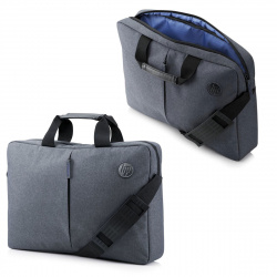 "Сумка для ноутбука Essential Topload Black 15,6"" (280*400*60мм), ручки, плечевой ремень, цвет серый Hewlett-Packard K0B38AA"