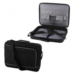 """Сумка для ноутбука 17.3"""" 34*44*5 Hama Sportsline Bordeaux руч плеч черный/серый политекс"""