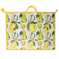 Папка для художника А3, 330*450*50мм, пластик, на молнии, 1 отделение, ручки, цвет рисунок Fruit garden КОКОС 211966
