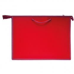 Папка для художника пластик на молн сверху А3 (345*465*50мм) 1отд ПР 3 50968 руч Бордовый