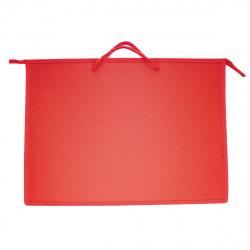 Папка для художника пластик на молн сверху А3 (345*465*50мм) 1отд ПР 3 2170 руч Красный