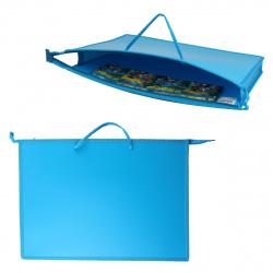 Папка для художника пластик на молн сверху А3 (345*465*50мм) 1отд ПР 3-8 10223 руч Ярко-голубой