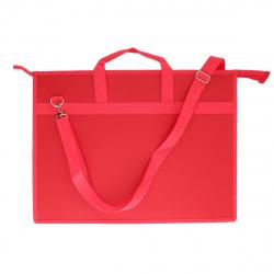 Папка для художника пластик на молн сверху А3 (350*460*50мм) 1отд ПР 5 10722 руч плеч Красный
