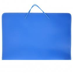 Папка для художника пластик на молн вокруг А3 (320*465*25мм) 1отд ПМ-А3-36 руч синяя
