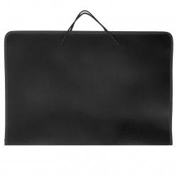 Папка для художника пластик на молн вокруг А3 (320*465*25мм) 1отд ПМ-А3-36 руч черная