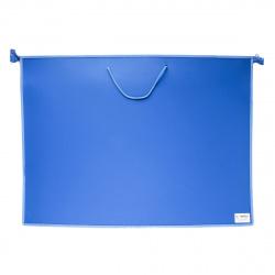 Папка для художника пластик на молн сверху А2 (470*640*50мм) 1отд ПМ-А2-35 руч Синий