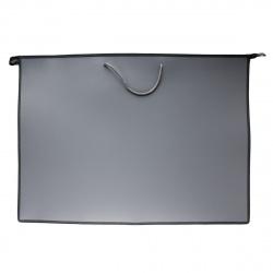 Папка для художника пластик на молн сверху А2 (470*640*50мм) 1отд ПМ-А2-35 руч Серый