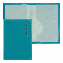 Обложка для паспорта натуральная кожа, цвет бирюза KLERK Luxury 213939
