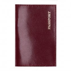 Обложка для паспорта натуральная кожа, цвет лиловый KLERK Luxury 213940
