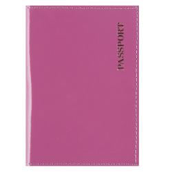 Обложка для паспорта натуральная кожа, цвет сиреневый KLERK Luxury 213941