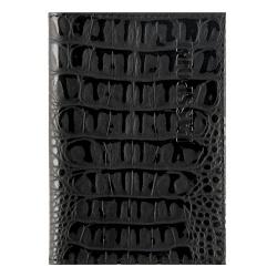 Обложка для паспорта натуральная кожа, цвет черный KLERK Alligator 213946