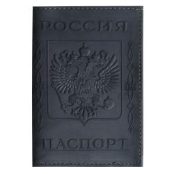 Обложка для паспорта натуральная кожа, цвет черный KLERK Boss 213950