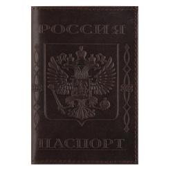 Обложка для паспорта натуральная кожа, цвет коричневый KLERK Boss 213952