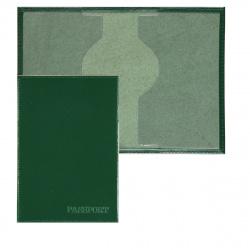 Обложка для паспорта кожа Имидж Passport Шик тиснение конгрев отстрочка 1,01гр-PSP ШИК-206 зеленый