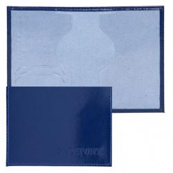 Обложка для паспорта кожа Имидж Passport Шик тиснение конгрев отстрочка 1,01гр-PSP ШИК-203 синий