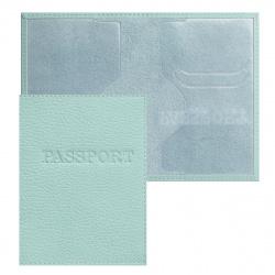 Обложка для паспорта кожа Имидж Passport Флотер тиснение конгрев отстрочка 1,01гр-ФЛОТЕР-228 мята