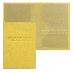 Обложка для паспорта кожа Имидж Passport Флотер тиснение конгрев отстрочка 1,01гр-ФЛОТЕР-232 желтая