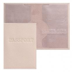 Обложка для паспорта кожа Имидж Passport Флотер тиснение конгрев 1,01гр-ФЛОТЕР-233 кремовая