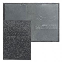 Обложка для паспорта кожа Имидж Passport Флотер тиснение конгрев отстрочка 1,01гр-ФЛОТЕР-239 серая