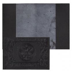Обложка для паспорта кожа Имидж Герб тиснение 1,12 черная