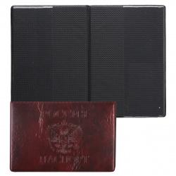 Обложка для паспорта к/з Имидж Россия-паспорт Герб тиснение П 1,10ГК-201 красная