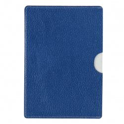 Обложка-карман для паспорта натуральная кожа, цвет синий Grand 02-016-0762