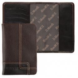 Обложка для паспорта натуральная кожа, цвет коричневый Domenico Morelli Floter kross DM-PS02-K032