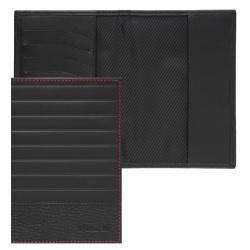 Обложка для паспорта натуральная кожа, цвет черный Domenico Morelli Амадей DM-PS02-KS01