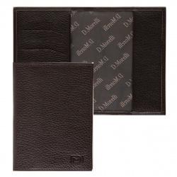 Обложка для паспорта натуральная кожа, цвет коричневый Domenico Morelli Бруклин DM-PS02-F002
