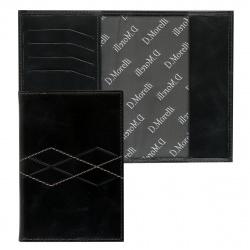 Обложка для паспорта натуральная кожа, цвет серый Domenico Morelli Бруклин DM-PS02-K033