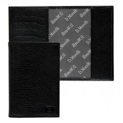Обложка для паспорта натуральная кожа, цвет черный Domenico Morelli Бруклин DM-PS02-F001