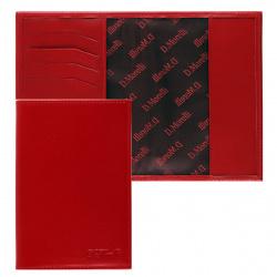 Обложка для паспорта натуральная кожа, цвет красный Domenico Morelli Red-2 DM-PS02-K07-F
