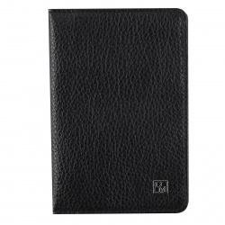 Обложка для паспорта кожа Domenico Morelli Забри тиснение отстрочка DM-PS01-KT01 черная