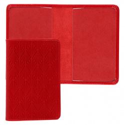 Обложка для паспорта натуральная кожа, цвет красный Domenico Morelli Мадлен DM-PS01-KT07