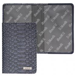 Обложка для паспорта натуральная кожа, цвет синий Domenico Morelli Гарда DM-PS06-K808